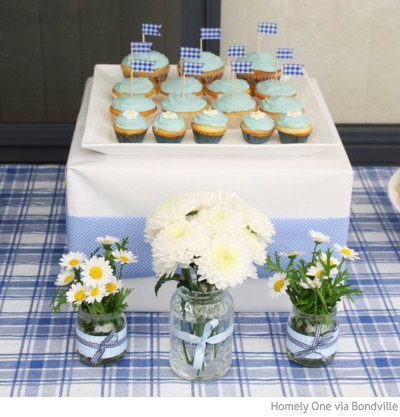 Bondville Sweet Blue And Yellow Picnic Theme First Birthday Party