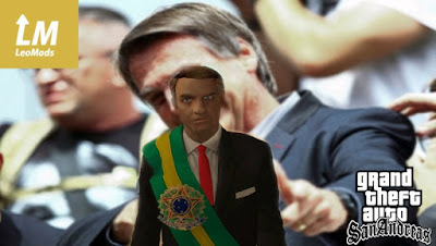 Download mod Skin Bolsonaro Presidente para o jogo GTA San Andreas.
