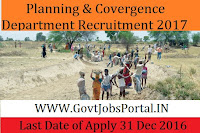 Planning & Convergence Department Recruitment 2017