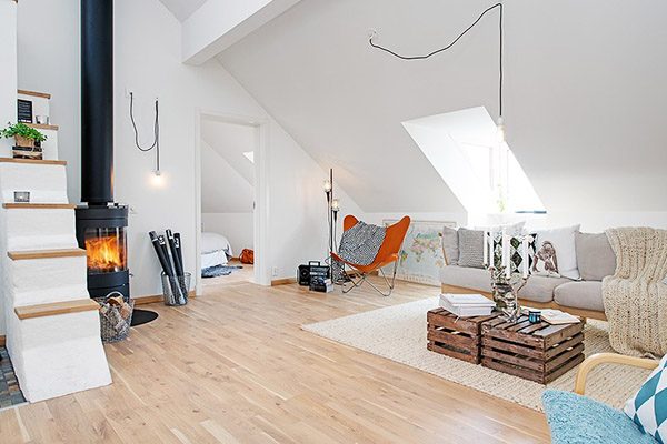 Loft su dois la d coration scandinave blog d co for Deco salon style scandinave