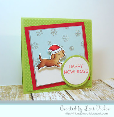 Happy Howlidays card-designed by Lori Tecler/Inking Aloud-stamps from Lawn Fawn