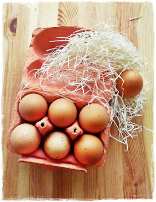 box of fresh eggs