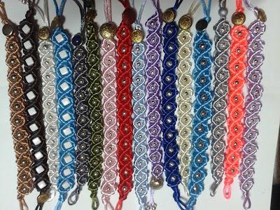 bransoletki sznurek satynowy