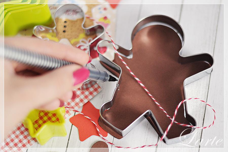 girlanda, DIY, papier, wycinanie, Boże Narodzenie, gingerbread man, pierniki, święta, larteblog, blogger, blog, ozdoba