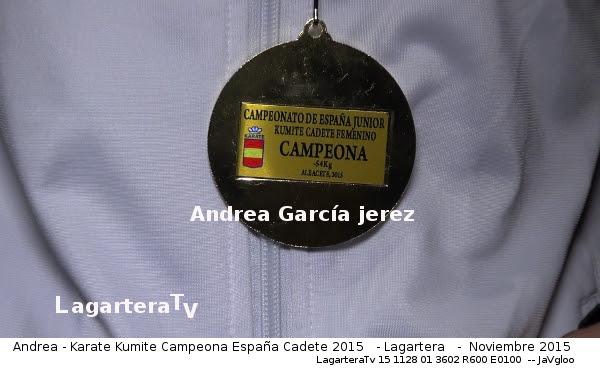 Medalla del Campeonato de España de Karate Cadete - LagarteraTv