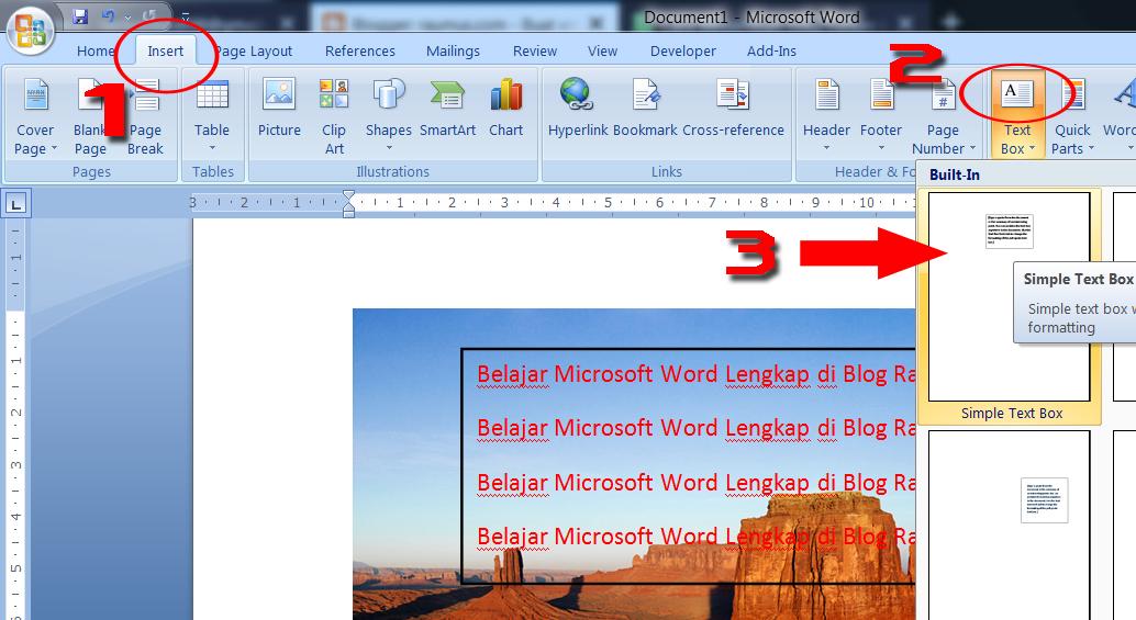 Cara Memasukkan Tulisan Text Ke Dalam Gambar Di Ms Word Raumus Com