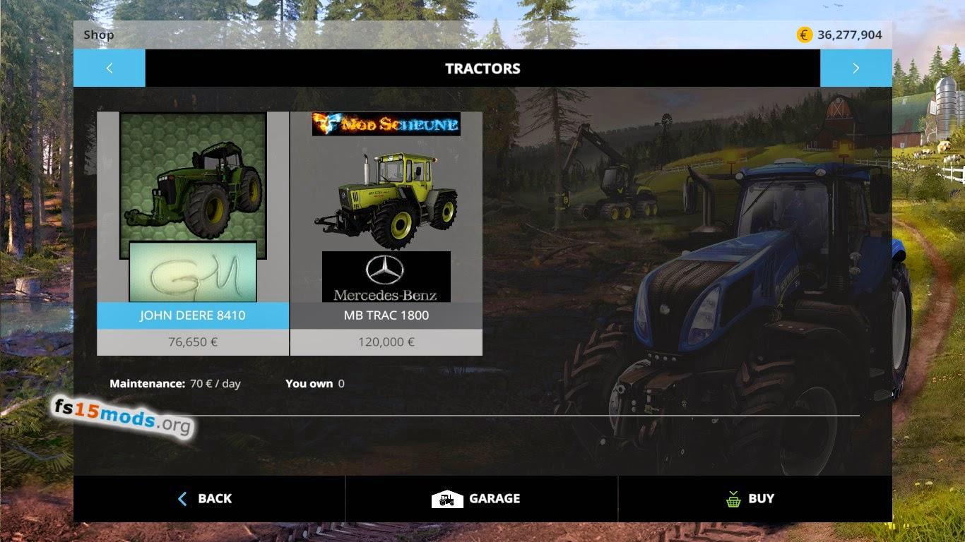 John Deere 8410 Tractor Fs15 Mods