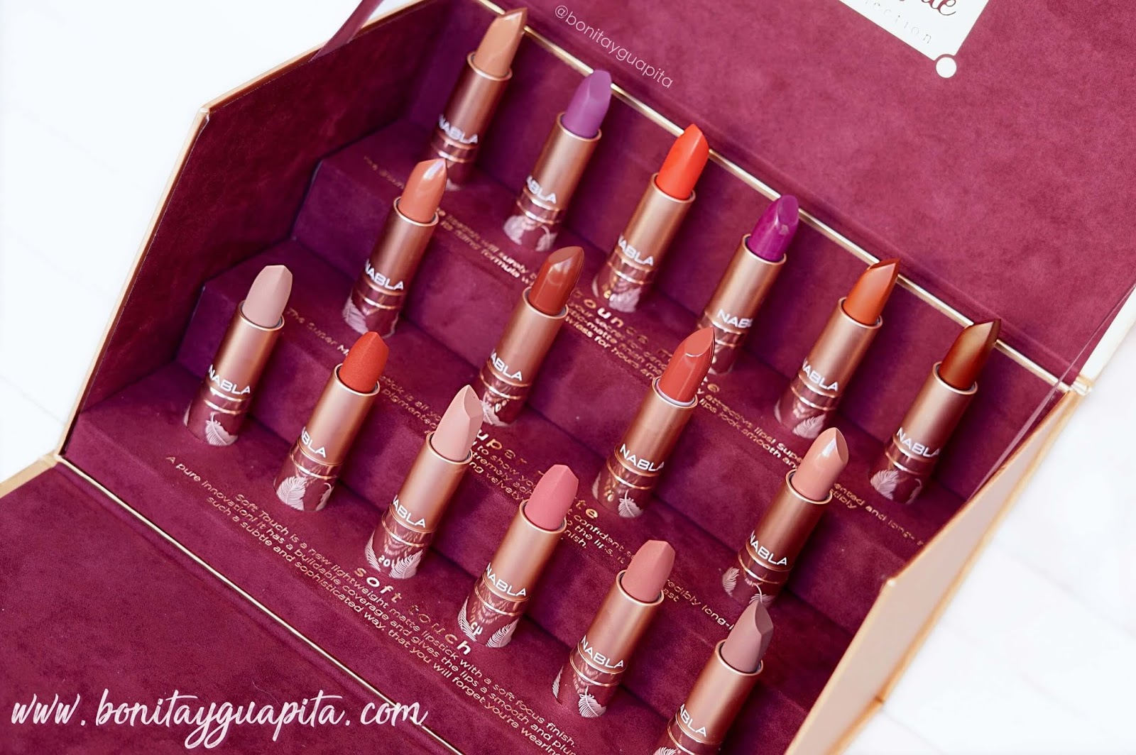 nabla the matte collection lipstick
