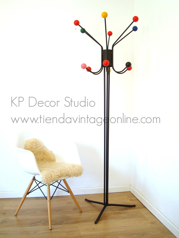 Perchero vintage frances old coat rack vintage estilo midcentury Eames