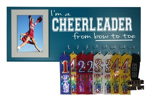 CHEERLEADING CHEERLEADER AWARD MEDAL RIBBON HOLDER HANGER DISPLAY