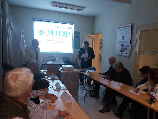 Fotografía de la conferencia impartida por el profesor D Juan Siso