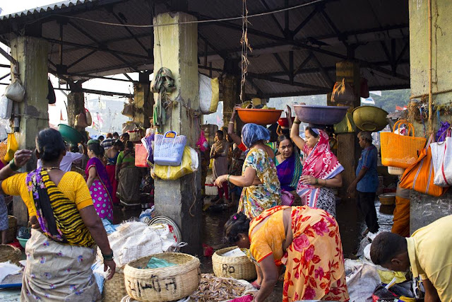 fish market, sassoon docks, fisherfolk, baskets, fish, traders, morning, mumbai, incredible india