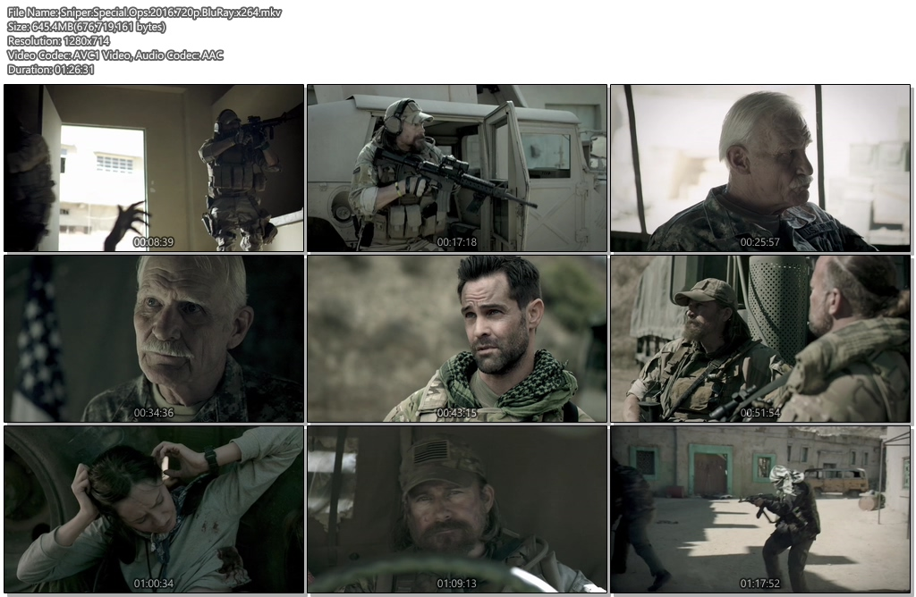 Sniper Special Ops 2016 720p BluRay 650MB x264 - 300MB Movies