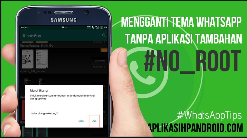 Cara mengganti tema di Whatsapp tanpa aplikasi no root 5