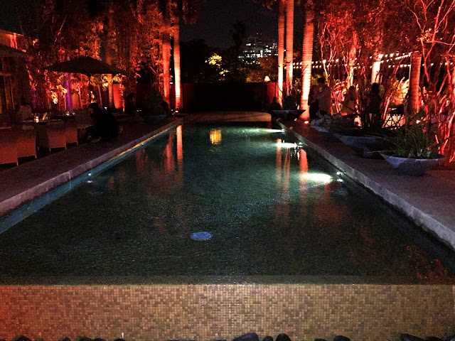 A Magical Evening At Sacred Space Miami reflection pool
