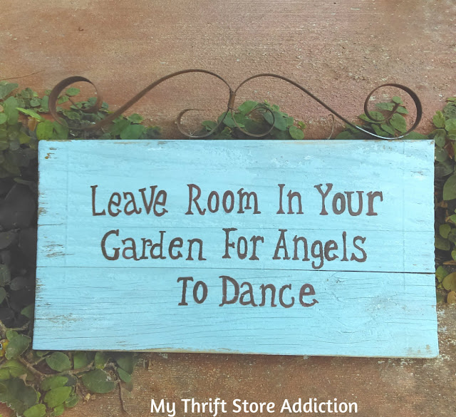how to refresh a faded garden sign