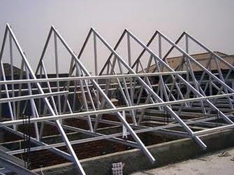 menghitung kebutuhan baja ringan atap jurai cara canal pada pekerjaan rangka