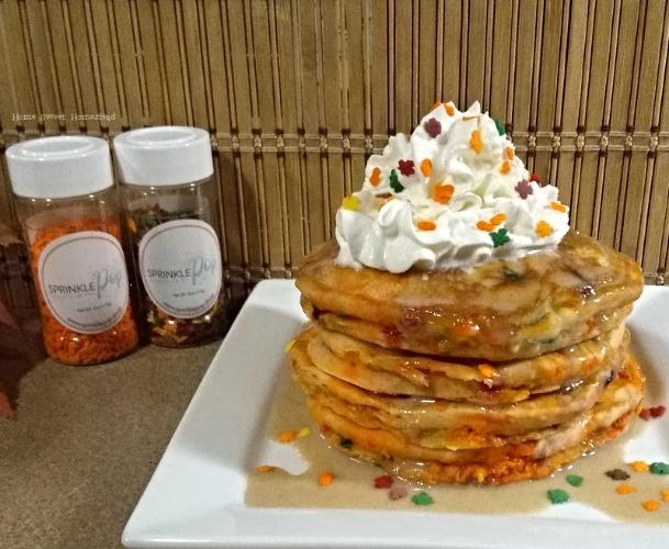Autumn Sprinkle Pancakes