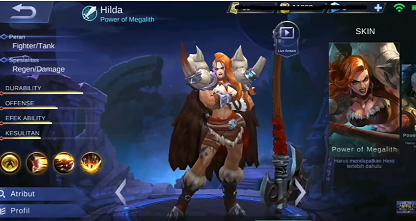 Gambar HILDA (power of Megalith) di ML