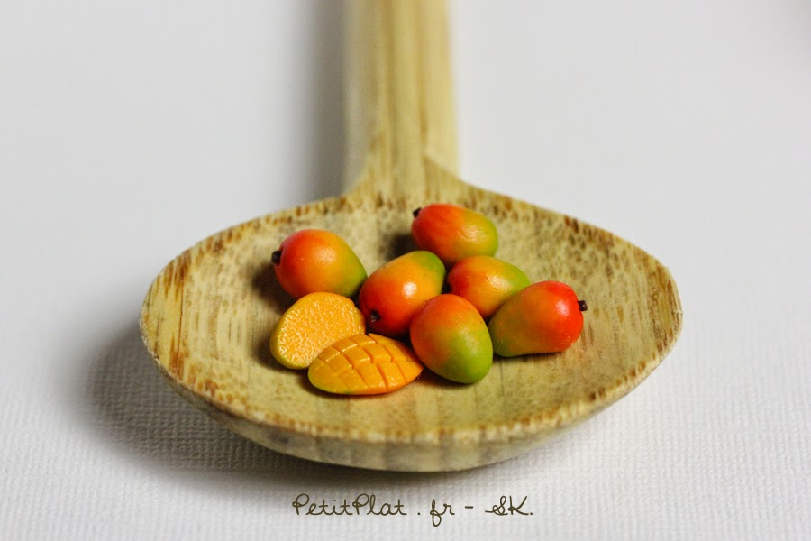 Mango, Miniature Food Art, Veggies and Fruit by Stephanie Kilgast