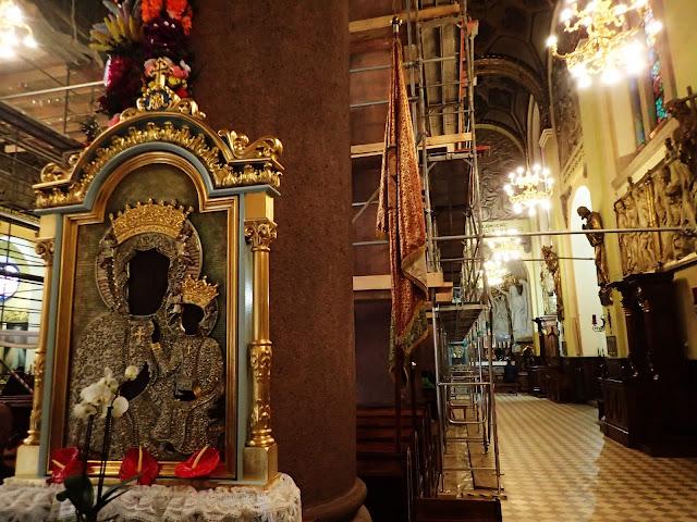 Wnętrze bazyliki w Limanowej