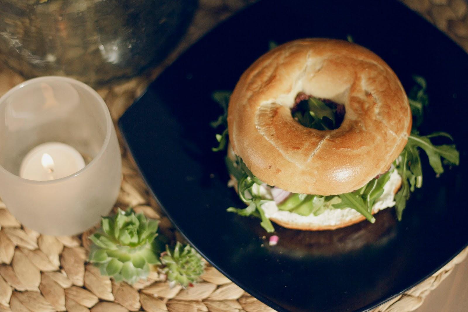 bagel de abacate