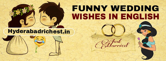 Funny wedding wishes in English 2018-2019