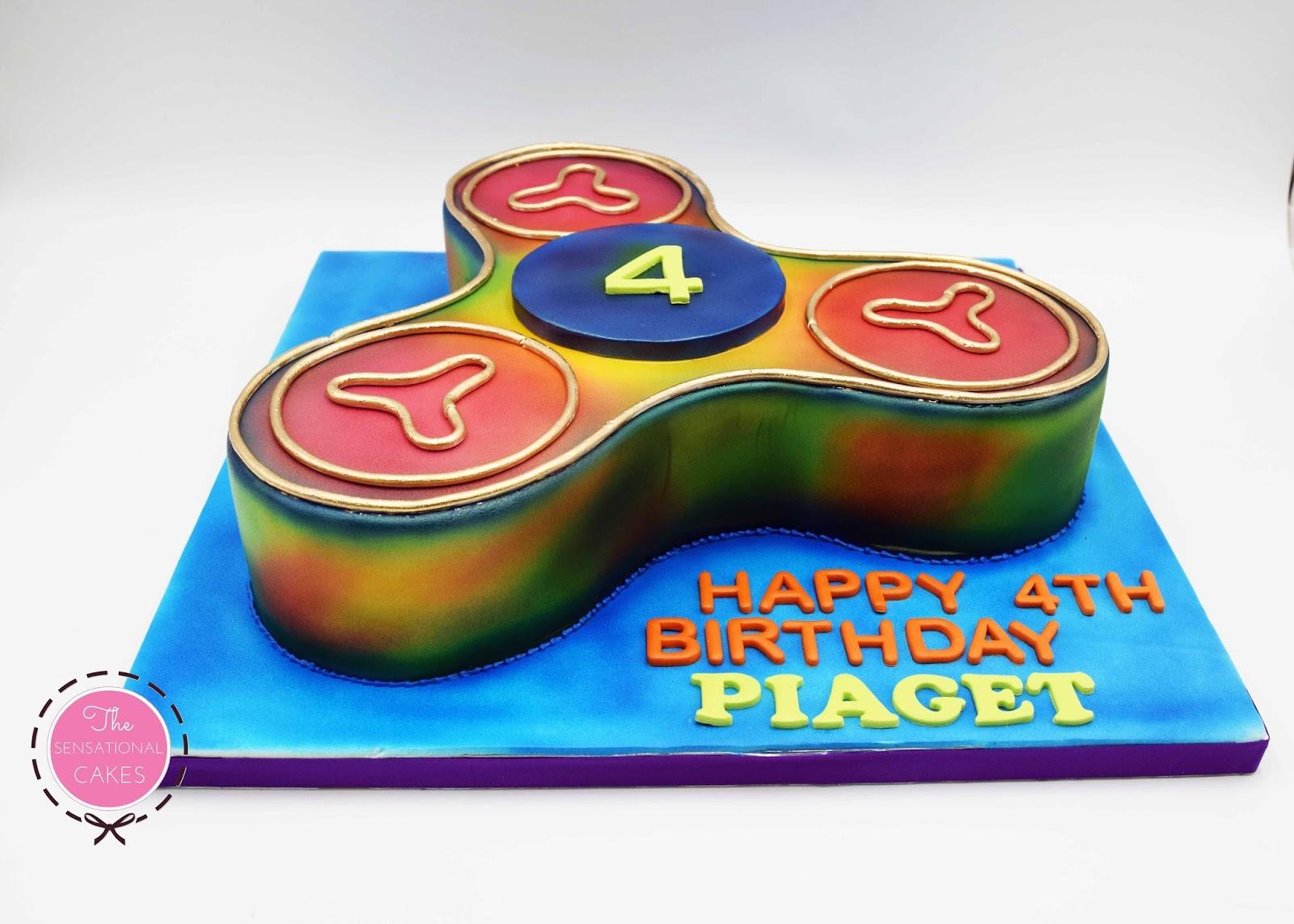 The Sensational Cakes: Piaget's Fidget Spinner Birthday Fondant Cake ...