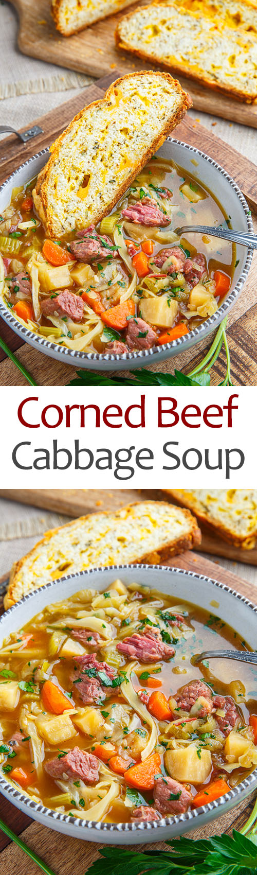 Corned Beef and Cabbage Soup on Closet Cooking