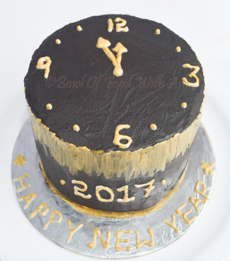 New Year Themed Cake Recipe | How To Make Themed Cake