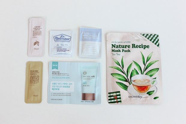 Amostras de produtos coreano para o rosto -  Style Korean