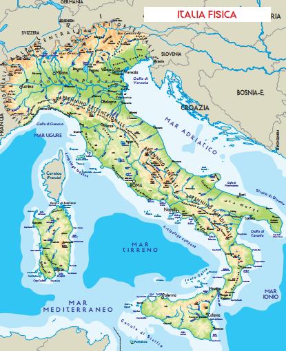 Cartina Fisica Italia Leggibile.2018 Guide Didattiche Gratis