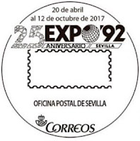 Filatelia - Sevilla -  XXV Aniversario Expo92 - 2017 - Matasellos de Sevilla
