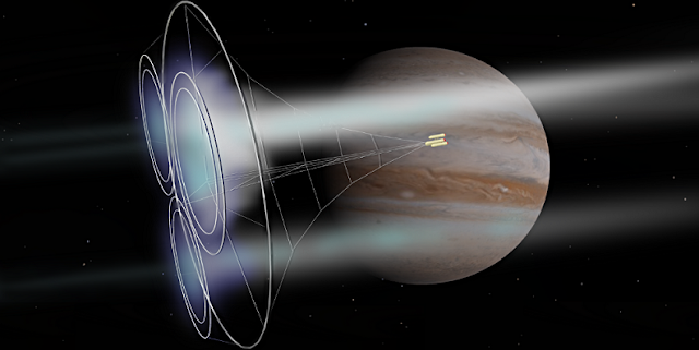 Artist concept of a magnetic sail.