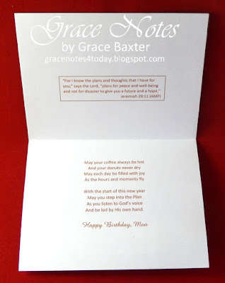Cheers, Coffee Card poem by Grace Baxter