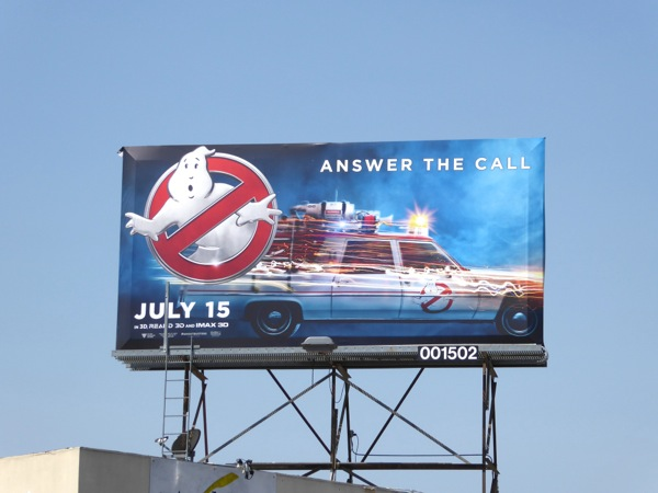 Ghostbusters 2016 Ecto 1 billboard