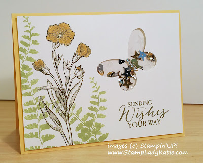 Butterfly Shaker Card made with Stampin'UP!'s Butterflies Thinlit Dies
