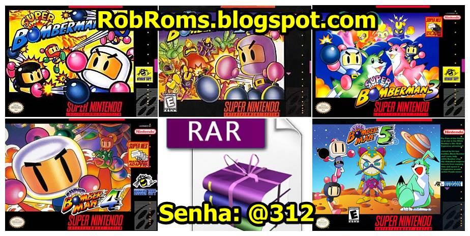 Baixar TODOS os jogos (ROMs) de Bomberman para SNES | Pack