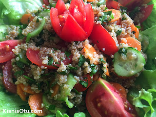 Kinoa, Salatası,Tarifi, Sağlıklı, Sebze, Glütensiz, Kişniş Otu, nasıl, yapılır