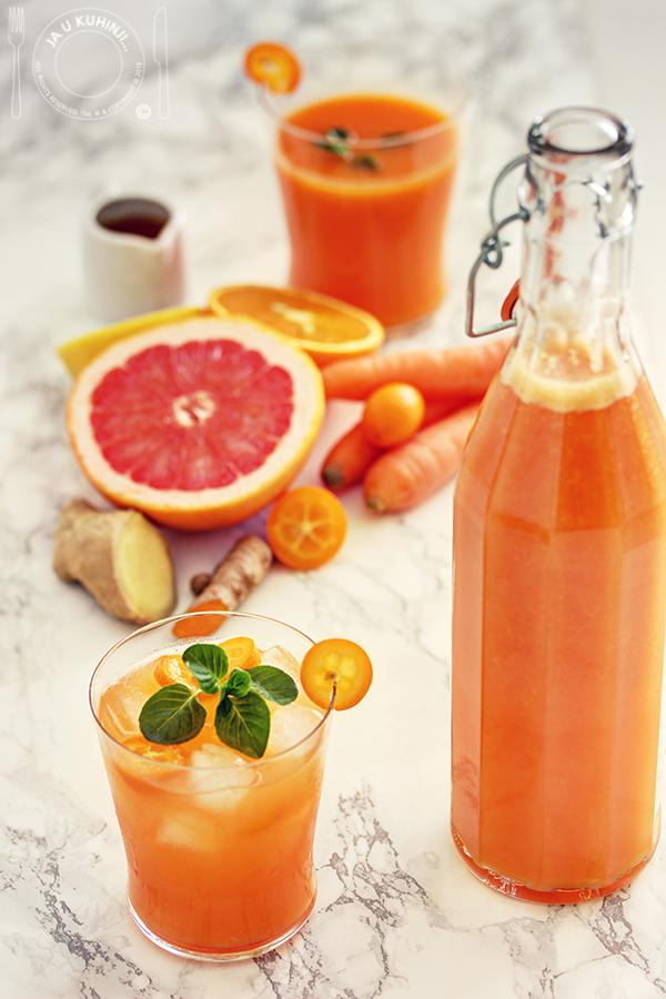 Sok od šargarepe i citrusa za jačanje imuniteta
