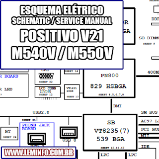 Esquema Elétrico Notebook Laptop POSITIVO V21  CLEVO M540V M550V Manual de Serviço  Service Manual schematic Diagram Notebook Laptop POSITIVO V21  CLEVO M540V M550V    Esquematico Notebook Laptop POSITIVO V21  CLEVO M540 V M550 V