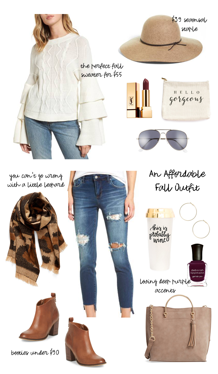 affordable fall outfit nordstrom and sweet water decor