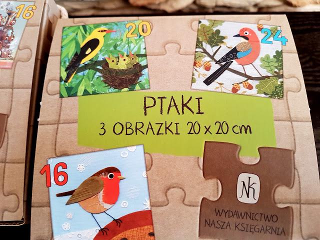 puzzle - Nasza Księgarnia - Ptaki - Pojazdy - Kraina Czarów - Leśna Kraina - Emilia Dziubak - Maciej Szymanowicz - Artur Nowicki - Ewa Kozyra-Pawlak - gry i zabawki dla dzieci
