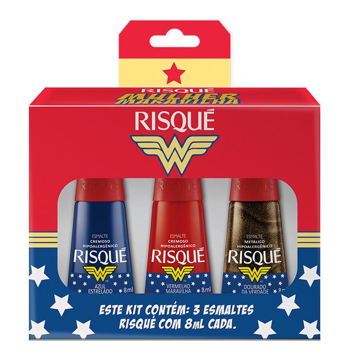 Mini kit da coleção Risqué Mulher-Maravilha /></div><div style=