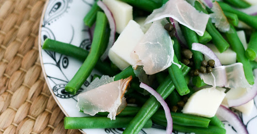 Green Bean Salad with Speck and Hearts of Palm