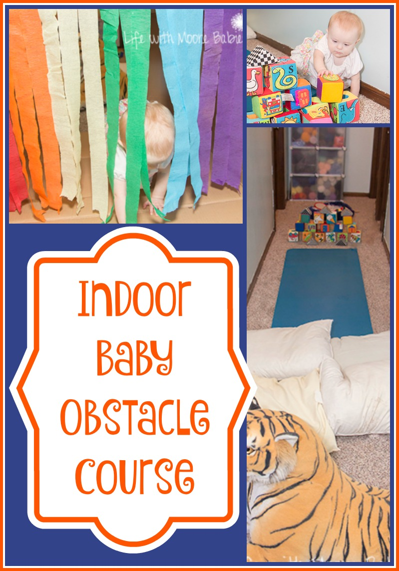 How To Build A Gross Motor Indoor Baby Obstacle Course