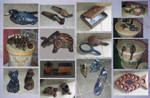 Gambar Souvenir kerajinan Gunungkidul batik kayu
