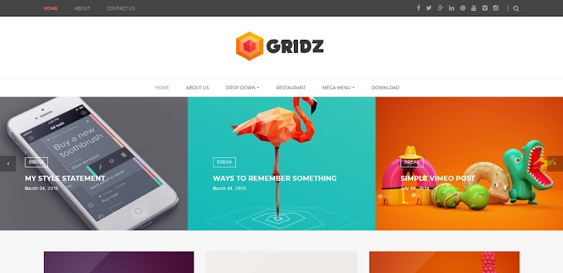 Gridz Free Blogger Template