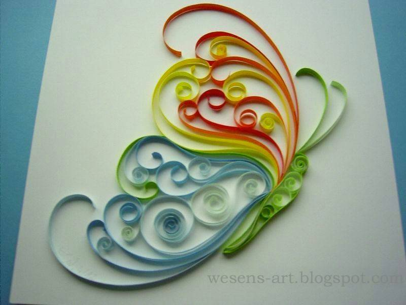 Wesens art quilling schmetterling quilling butterfly for Quilling how to