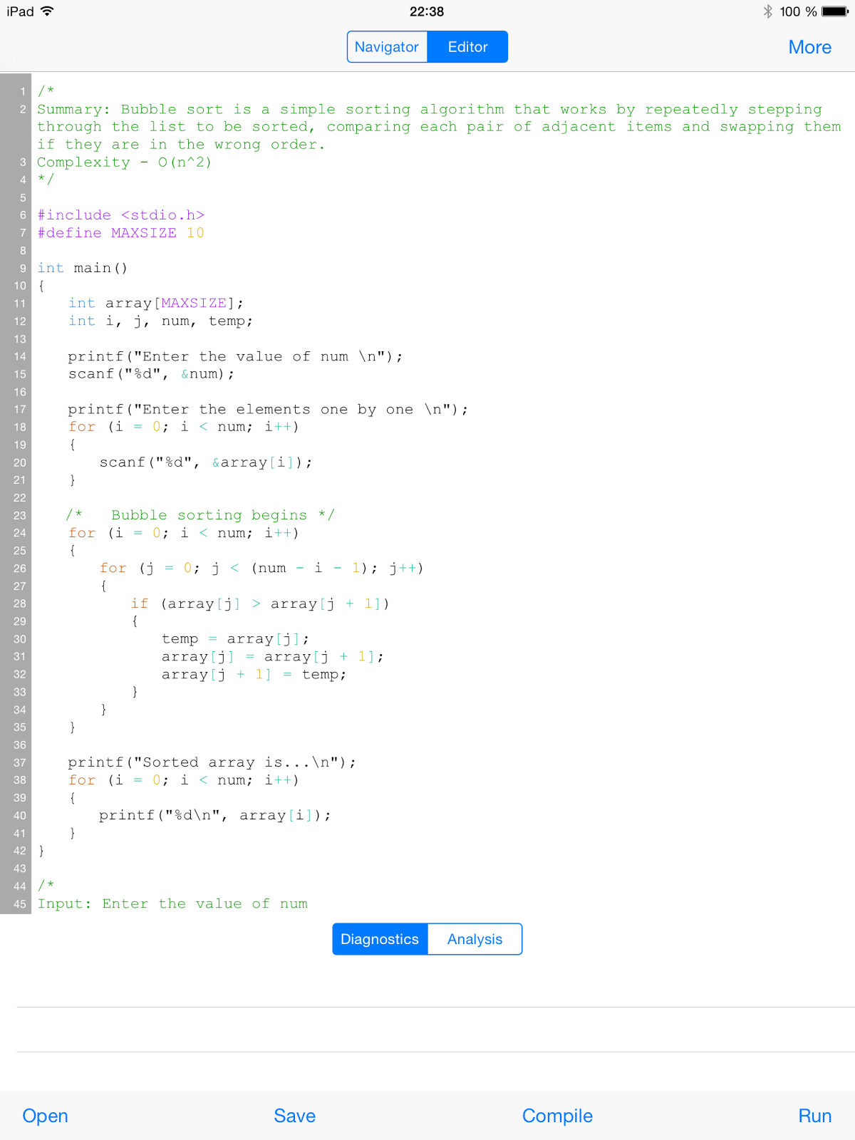 CppDroid - C/C++ IDE for Android